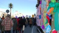 Демонстрація по дорозі до сейму пересувається до рондо де Голя