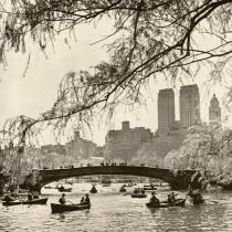 #CentralParkWestskyscrapersfromCentralParksLake.May1947
