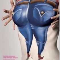 Боди-арт против рака молочной железы